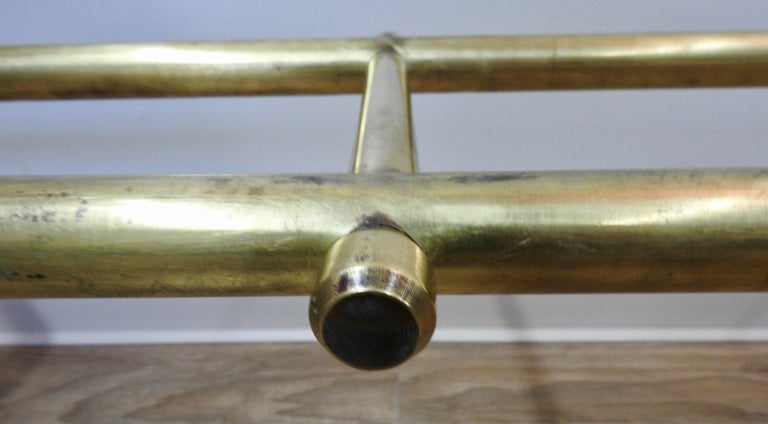 Mid-20th Century Solid Brass Fireplace Surround For Sale 5