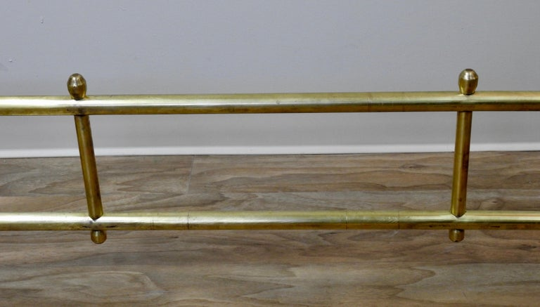 Mid-Century Modern Mid-20th Century Solid Brass Fireplace Surround For Sale