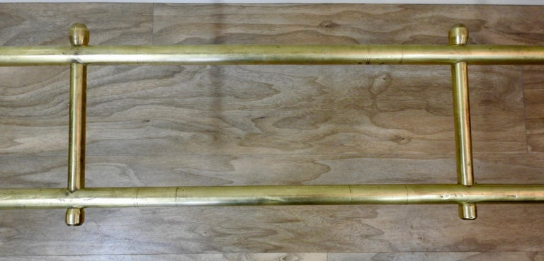 Mid-20th Century Solid Brass Fireplace Surround In Fair Condition For Sale In Cookeville, TN