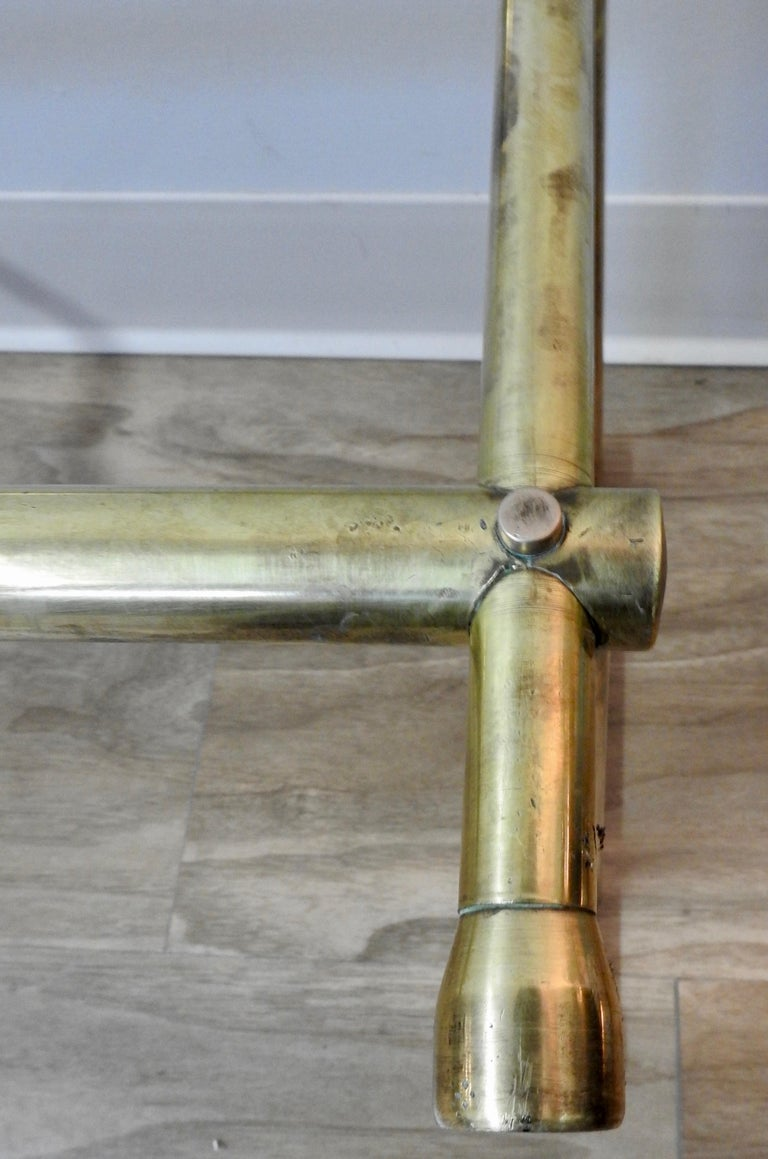 Mid-20th Century Solid Brass Fireplace Surround For Sale 1