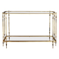 Mid-20th Century Spanish Brass Console Table