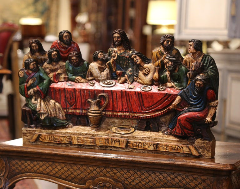 Mid-20th Century Spanish Carved Polychromed and Gilt Sculpture