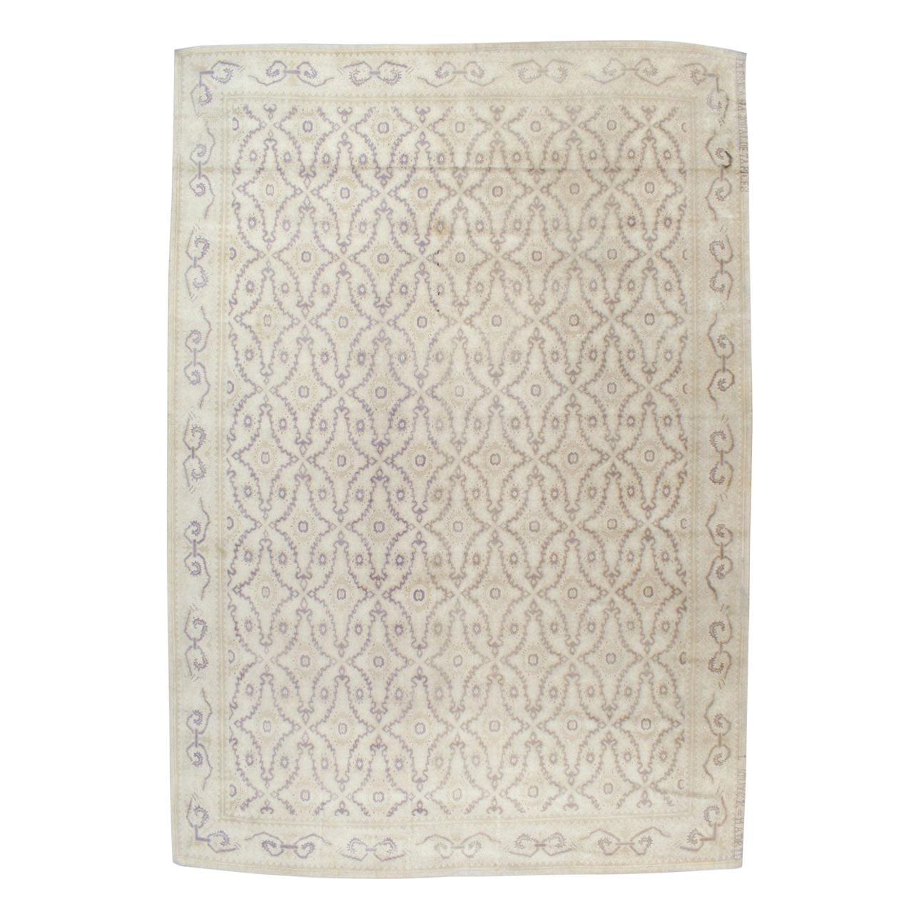 Mid-20th Century Spanish Cuenca Large Carpet by Fabrica Nacional De Tapices