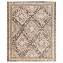 Mid-20th Century Square East Turkestan Khotan Small Room Size Accent Rug