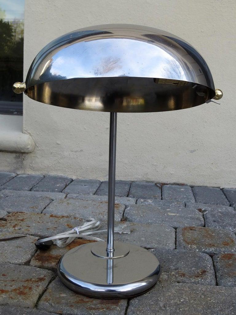 Mid-20th century steel desk lamp New wiring.