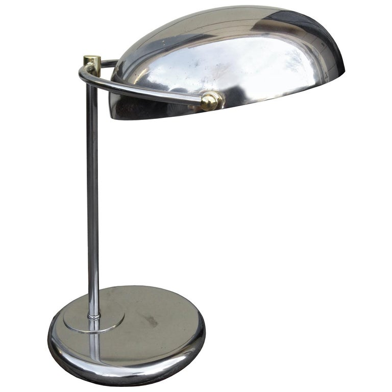 Mid-20th Century Steel Desk Lamp For Sale