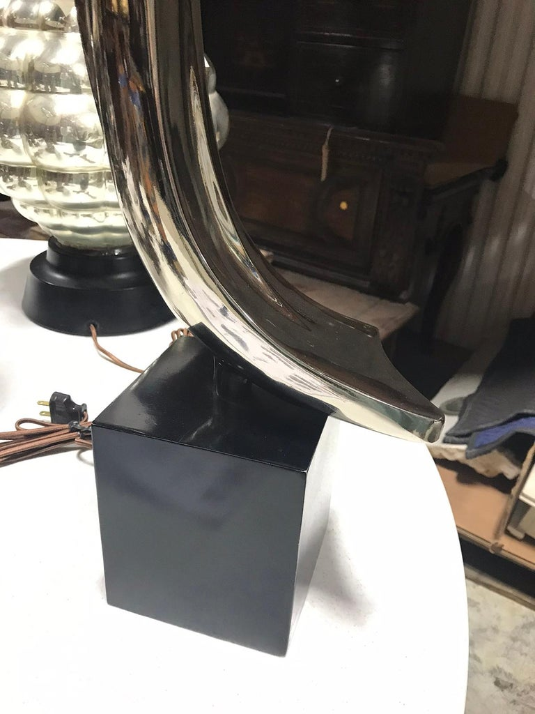 Mid-20th Century Steel Lamp by Laurel Lamp Co. For Sale 1