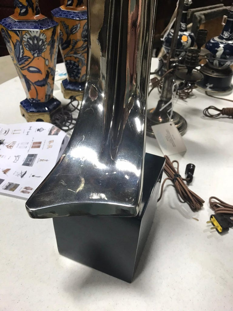 Mid-20th Century Steel Lamp by Laurel Lamp Co. For Sale 2
