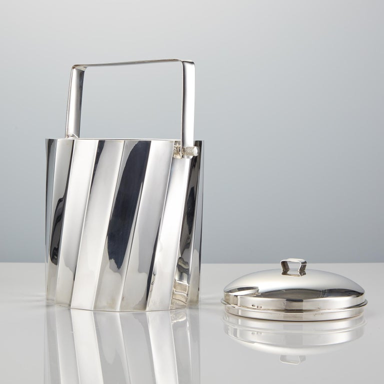 Mid-Century Modern Mid-20th Century Sterling Silver Ice Bucket by Cartier Circa 1960 For Sale
