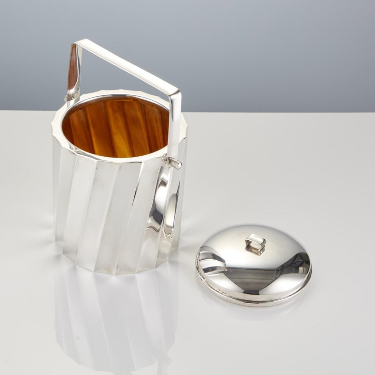 Italian Mid-20th Century Sterling Silver Ice Bucket by Cartier Circa 1960 For Sale
