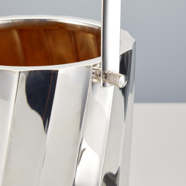 Mid-20th Century Sterling Silver Ice Bucket by Cartier Circa 1960 In Good Condition For Sale In London, GB