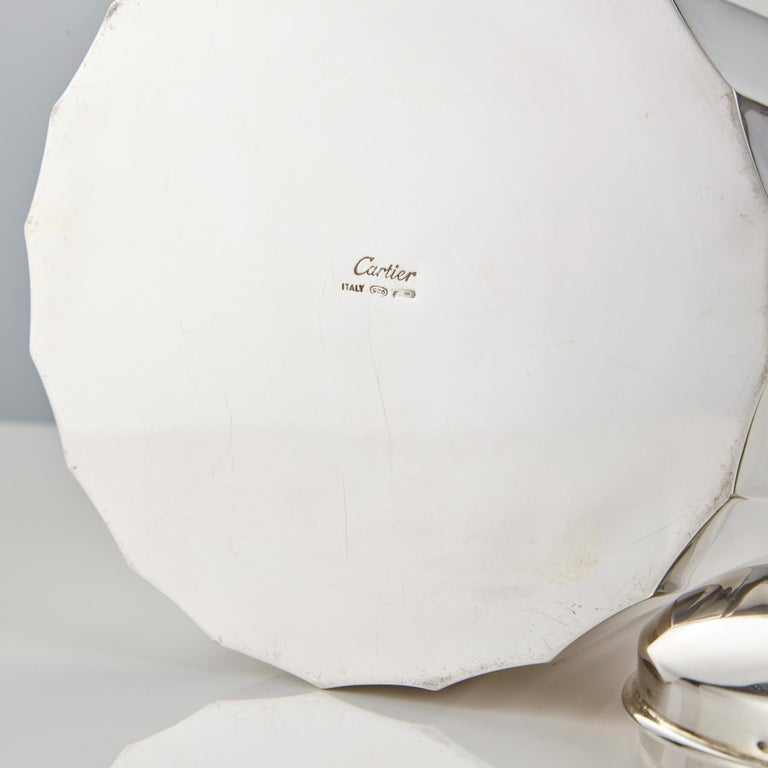 Mid-20th Century Sterling Silver Ice Bucket by Cartier Circa 1960 For Sale 1