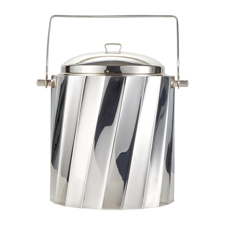 Mid-20th Century Sterling Silver Ice Bucket by Cartier Circa 1960 For Sale