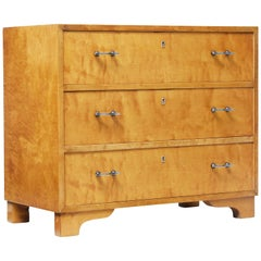 Mid-20th Century Swedish Birch Chest of Drawers