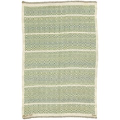 Mid-20th Century Swedish Flat-Weave Rug by Barbro Nilsson