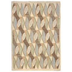 Mid-20th Century Swedish Flat-Weave Rug by Brita Grahn