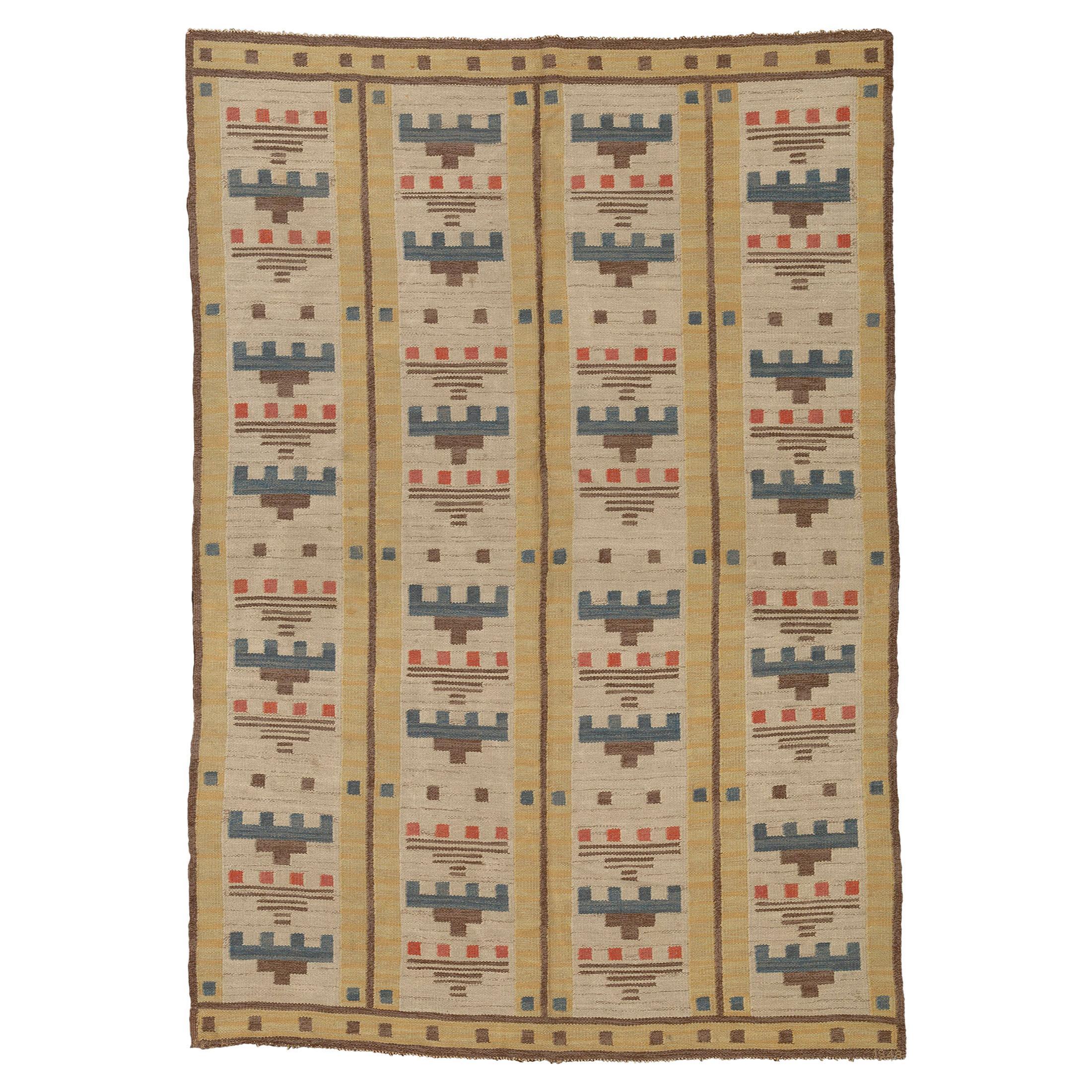 Mid 20th Century Swedish Flat Weave Rug