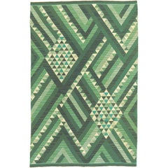 Mid-20th Century Swedish Flat Weave Rug