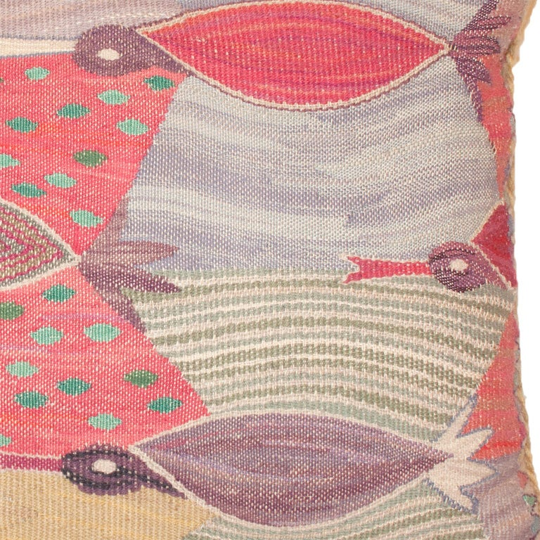 Hand-Woven Mid-20th Century Swedish, Pillow by Marianne Richter For Sale