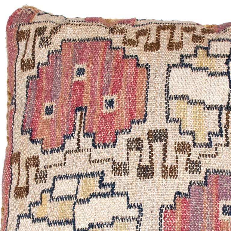Hand-Woven Mid-20th Century Swedish Pillow by AB MMF For Sale