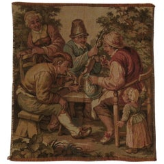 Mid-20th Century Tapestry Woven Panel of Figure Group Aubusson Style, French