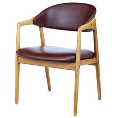 Mid-20th Century Teak Desk Chair by Gemla