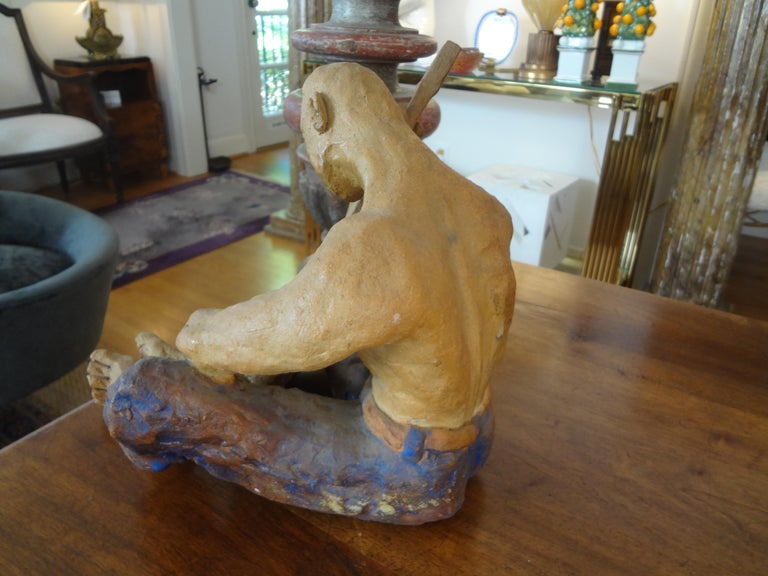 Mid-20th Century Terracotta Figural Sculpture For Sale 1