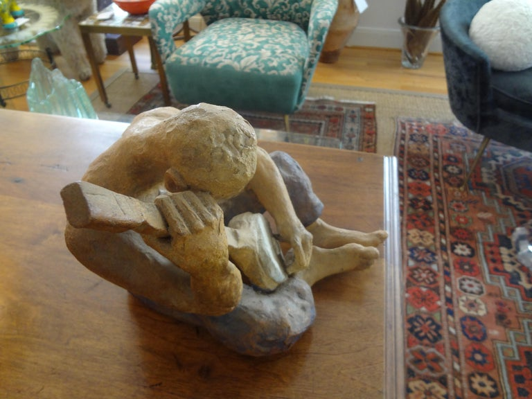 Mid-20th Century Terracotta Figural Sculpture For Sale 3