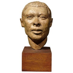Mid-20th Century Terracotta Bust of a Barbadian Man, by Harold S. Pfeiffer S.S.C