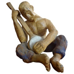 Mid-20th Century Terracotta Figural Sculpture