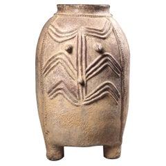 Mid-20th Century Tribal African Pot, Kurumba Storage Vessel, Burkina Faso
