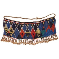Mid-20th Century Tribal Beaded Cache-Sexe Modesty Apron, Cameroon