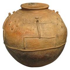 Mid-20th Century African Tribal Terracotta Ceramic Pot