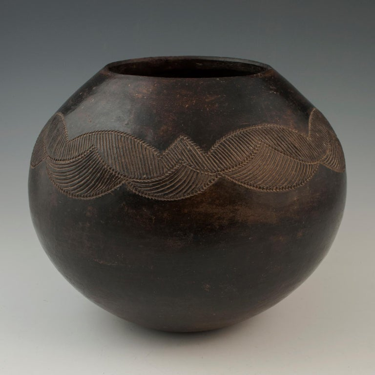 South African Mid-20th Century Tribal Ceramic Beer Pot, Zulu People, South Africa For Sale
