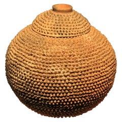 Mid-20th Century African Tribal Terracotta Ceramic Lobi Pot