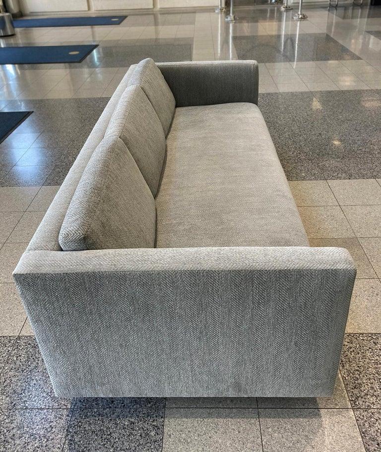 Mid-20th Century Tuxedo Sofa by Harvey Probber 1