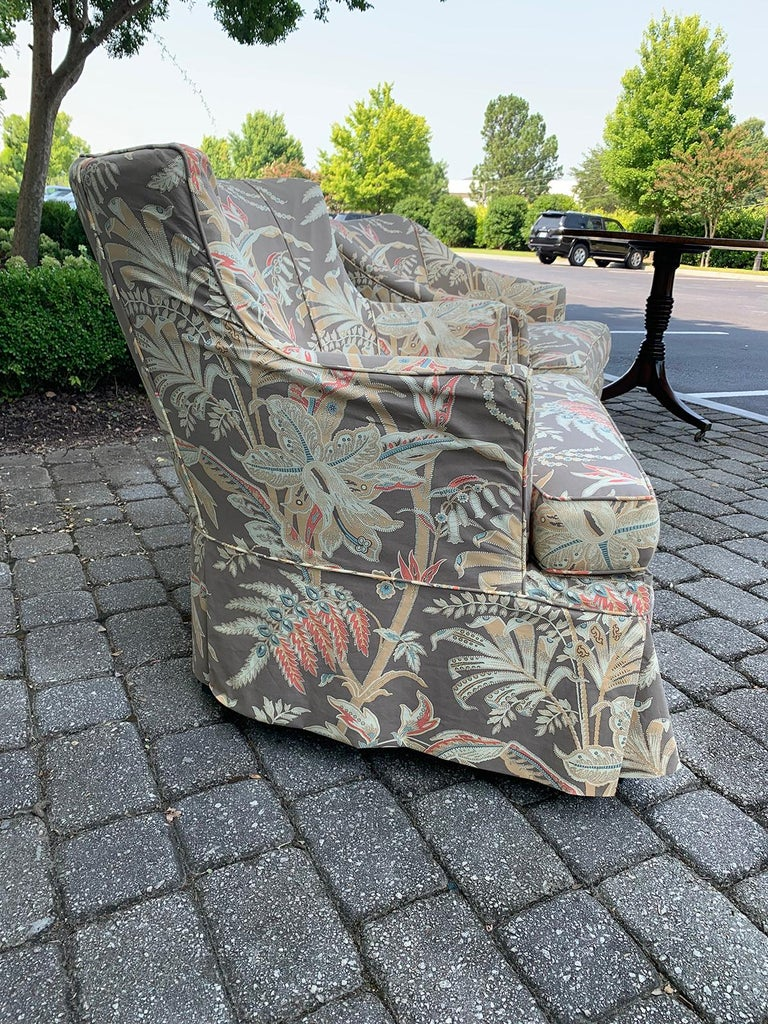 Upholstery Mid-20th Century Upholstered Club Chair For Sale