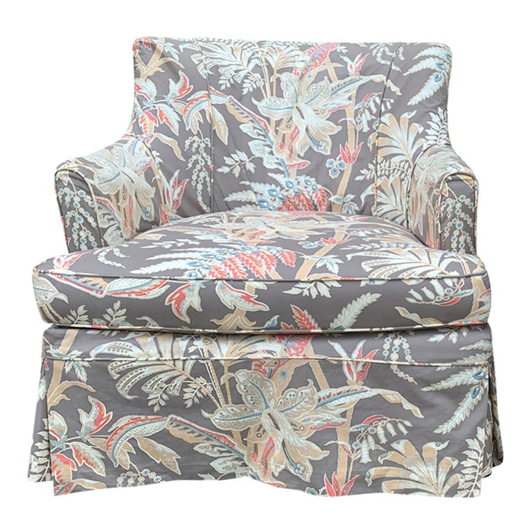 Mid-20th Century Upholstered Club Chair For Sale