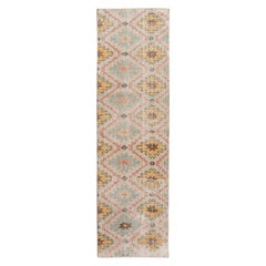 Mid-20th Century Vintage Art Deco Wool Runner