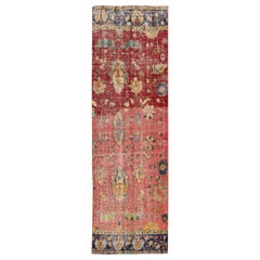 Mid-20th Century Vintage Art Deco Wool Runner Rug