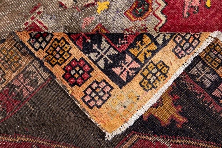 Persian Mid-20th Century Vintage Azeri Runner Rug For Sale