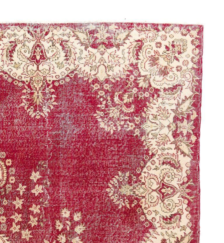 Hand-Woven Mid-20th Century Vintage Central Anatolian Rug For Sale