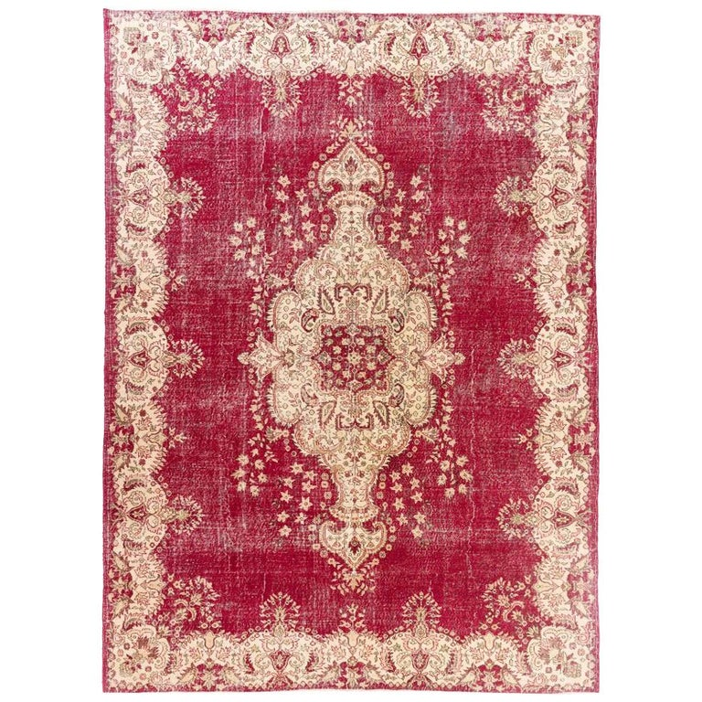 Mid-20th Century Vintage Central Anatolian Rug For Sale