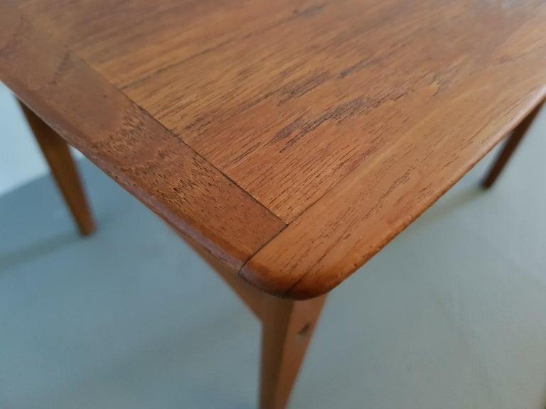 Vintage Teak Side Table.Mid 20th Century Vintage Danish Teak Side Table