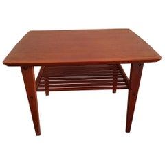 Mid-20th Century Vintage Danish Teak Side Table