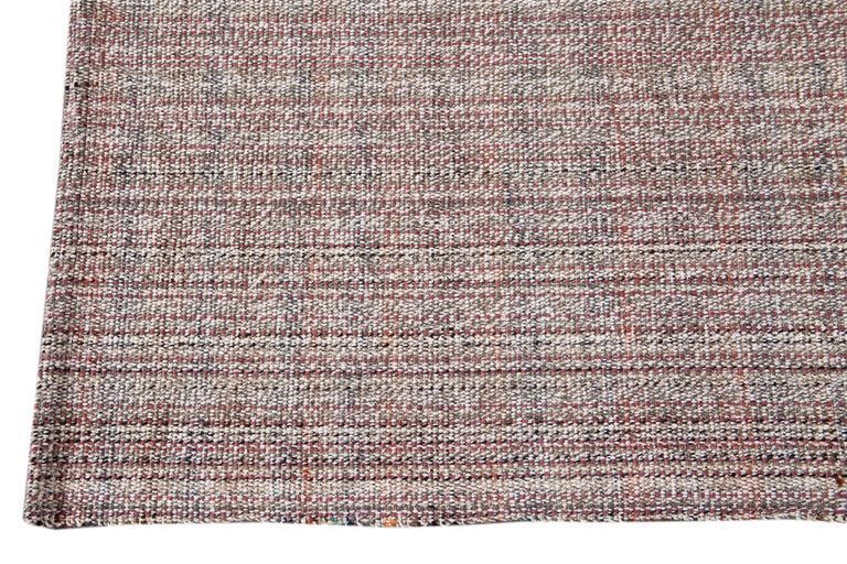 Mid-20th Century Vintage Flat-Weave Rug For Sale 3