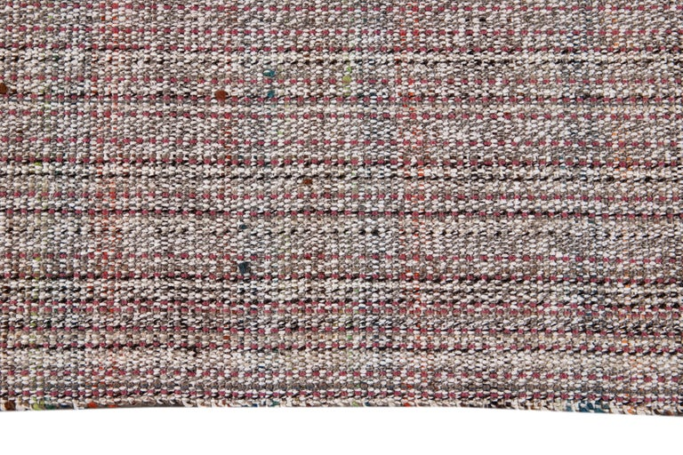 Mid-20th Century Vintage Flat-Weave Rug For Sale 4