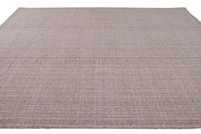 Mid-20th Century Vintage Flat-Weave Rug For Sale 5