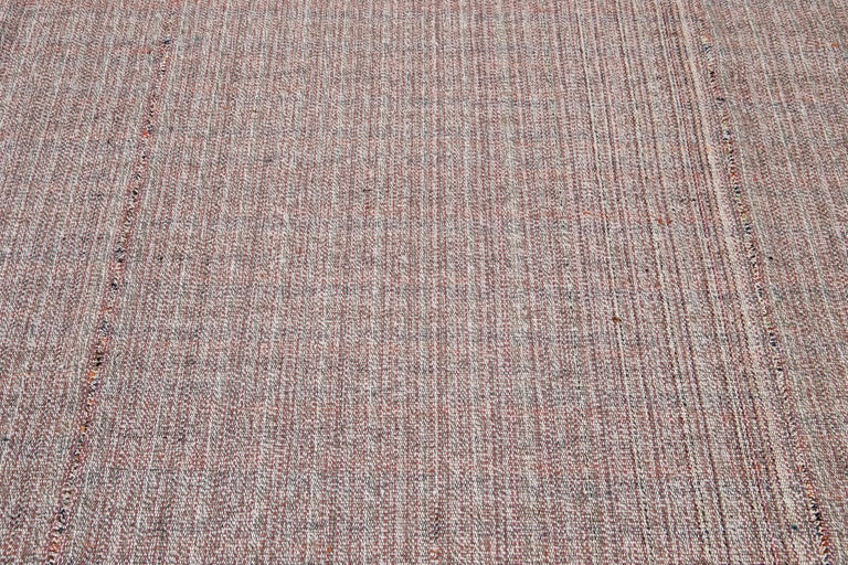 Mid-20th Century Vintage Flat-Weave Rug For Sale 1