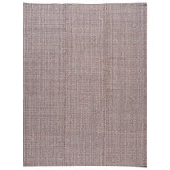 Mid-20th Century Vintage Flat-Weave Rug